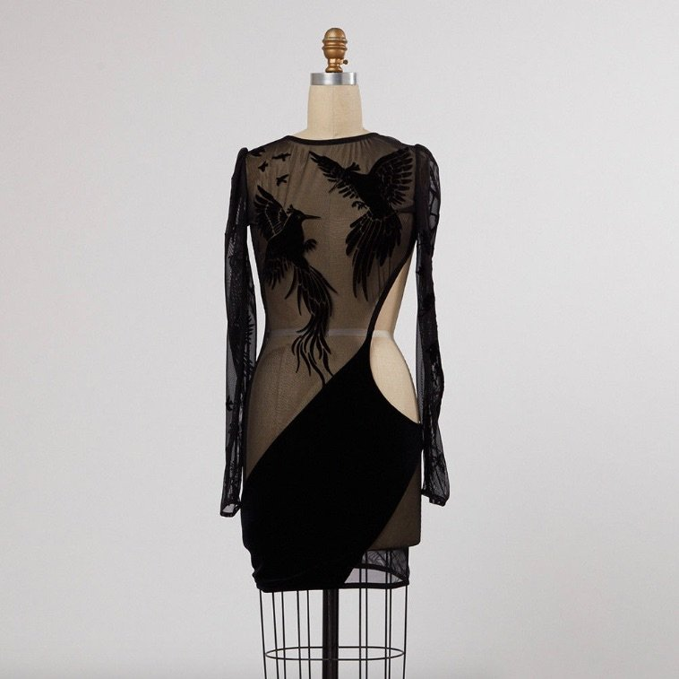 Rob + Mariel's Bao Tranchi Dress Worn By Jennifer Lopez, ebay