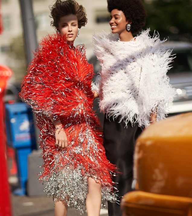 Edie Campbell and Manuela Sanchez for Carolina Herrera Fall 2018.