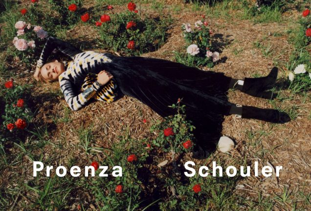 Amber Valletta for Proenza Schouler Fall 2018.