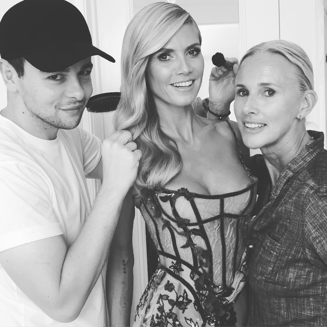 Heidi Klum Getting Ready for the 2015 Creative Arts Emmy Awards