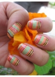 Cha Cha Covers African Lollipop Summer Tribal Stripes Nail Decals