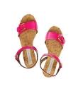 Stella McCartney Faux Patent-Leather & Cork Sandals