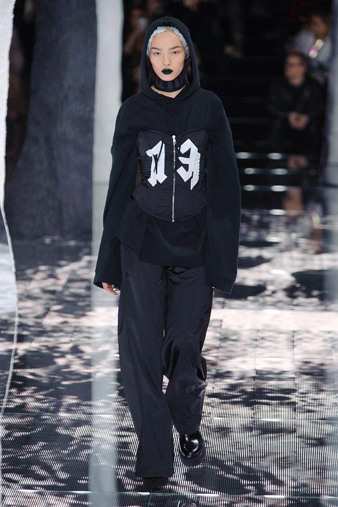 black hoodie girl