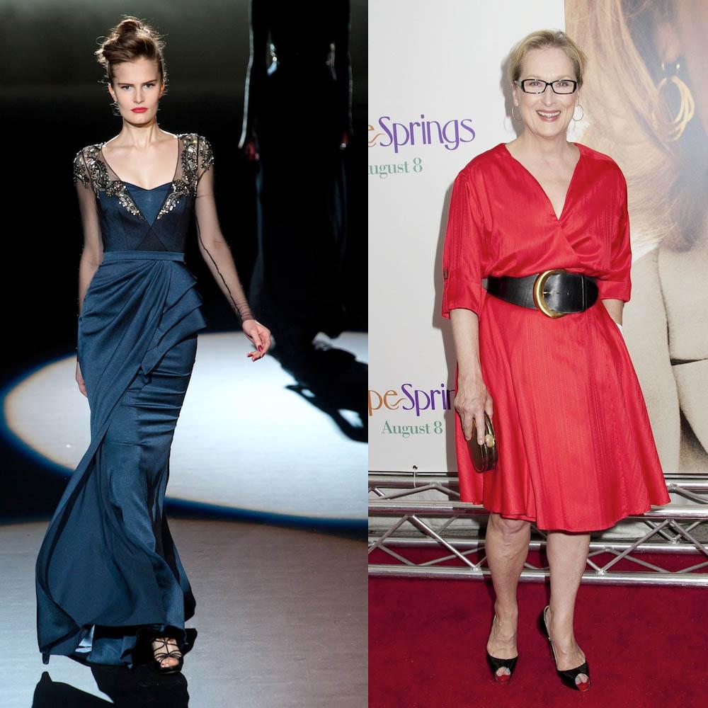 Badgley Mischka & Meryl Streep