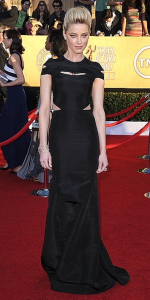 Amanda Heard in Zac Posen