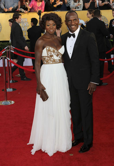 Julius Tennon and Viola Davis in Marchesa