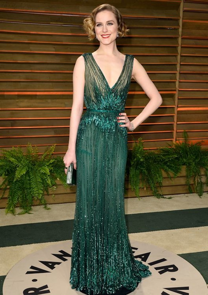Evan Rachel Wood at the 2014 Vanity Fair Oscar Party