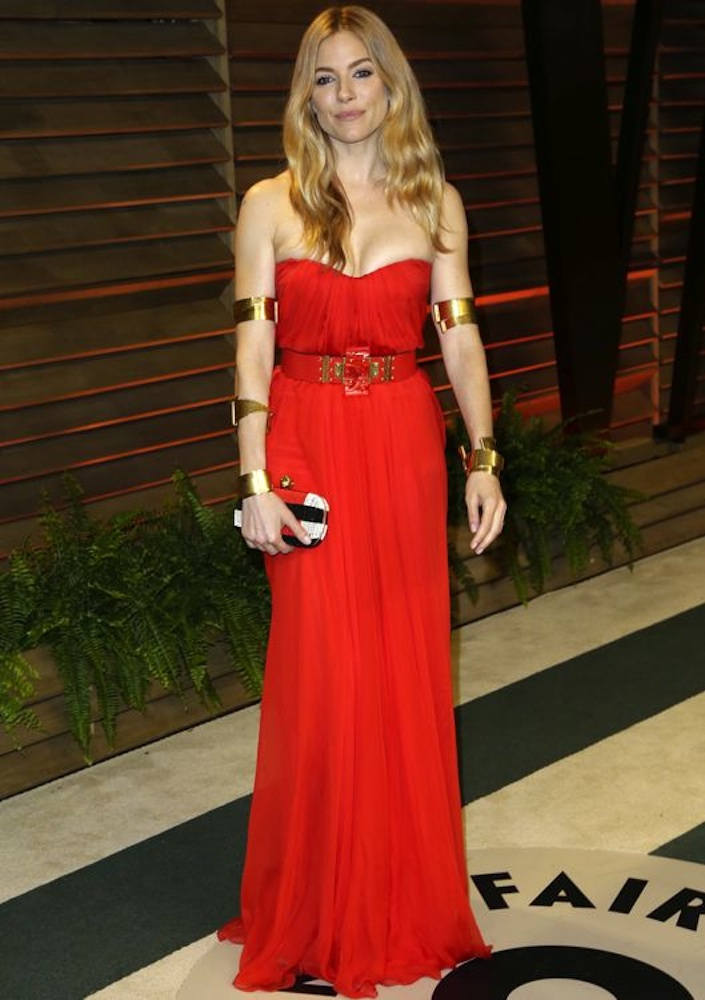 Sienna Miller at the 2014 Vanity Fair Oscar Party