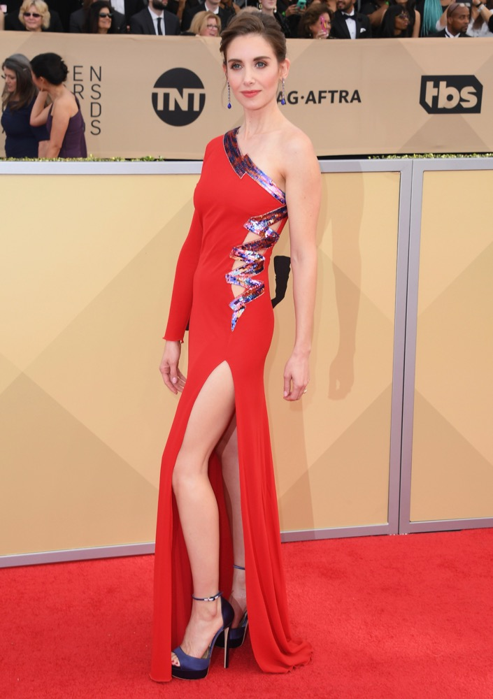 Alison Brie  All the Glitz and Glamour From the 2018 SAG Awards Red Carpet Alison Brie 2018 SAG Awards