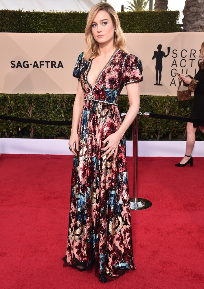 Brie Larson  All the Glitz and Glamour From the 2018 SAG Awards Red Carpet Brie Larson 2018 SAG Awards