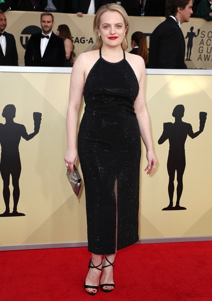 Elisabeth Moss  All the Glitz and Glamour From the 2018 SAG Awards Red Carpet Elisabeth Moss 2018 SAG Awards