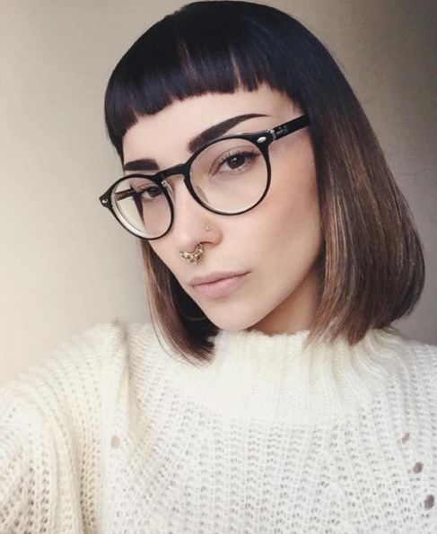 Micro Bangs With a Bob Hairstyle