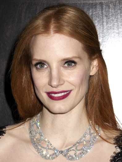 Jessica Chastain's Sleek Locks