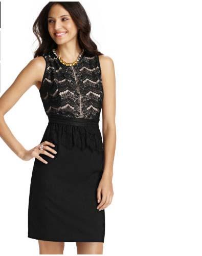 Detailed Little Black Dress