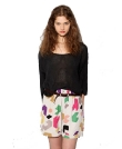 Best Behavior Slouchy Abstract Print Shorts