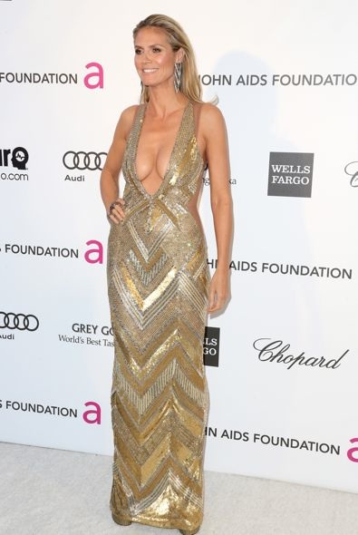 Heidi Klum at the 21st Annual Elton John AIDS Foundation's Oscar Viewing Party