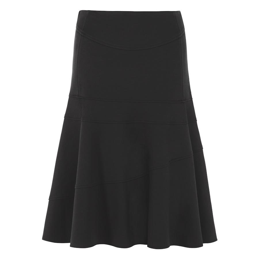 Flounce Skirt In Black