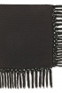 Fringe Scarf In Black Swiss Dot