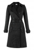 Trench Coat In Black Jacquard
