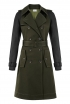 Trench Coat In Military Green