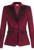 Velvet Blazer In Ruby Red