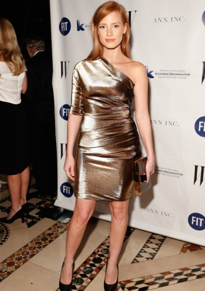 Jessica Chastain at the Fashion Institute of Technology Gala 2013