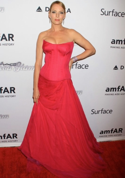 Uma Thurman at amfAR's 4th Annual Inspiration Gala New  York