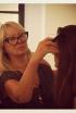 Makeup artist Val Garland doing beauty tests