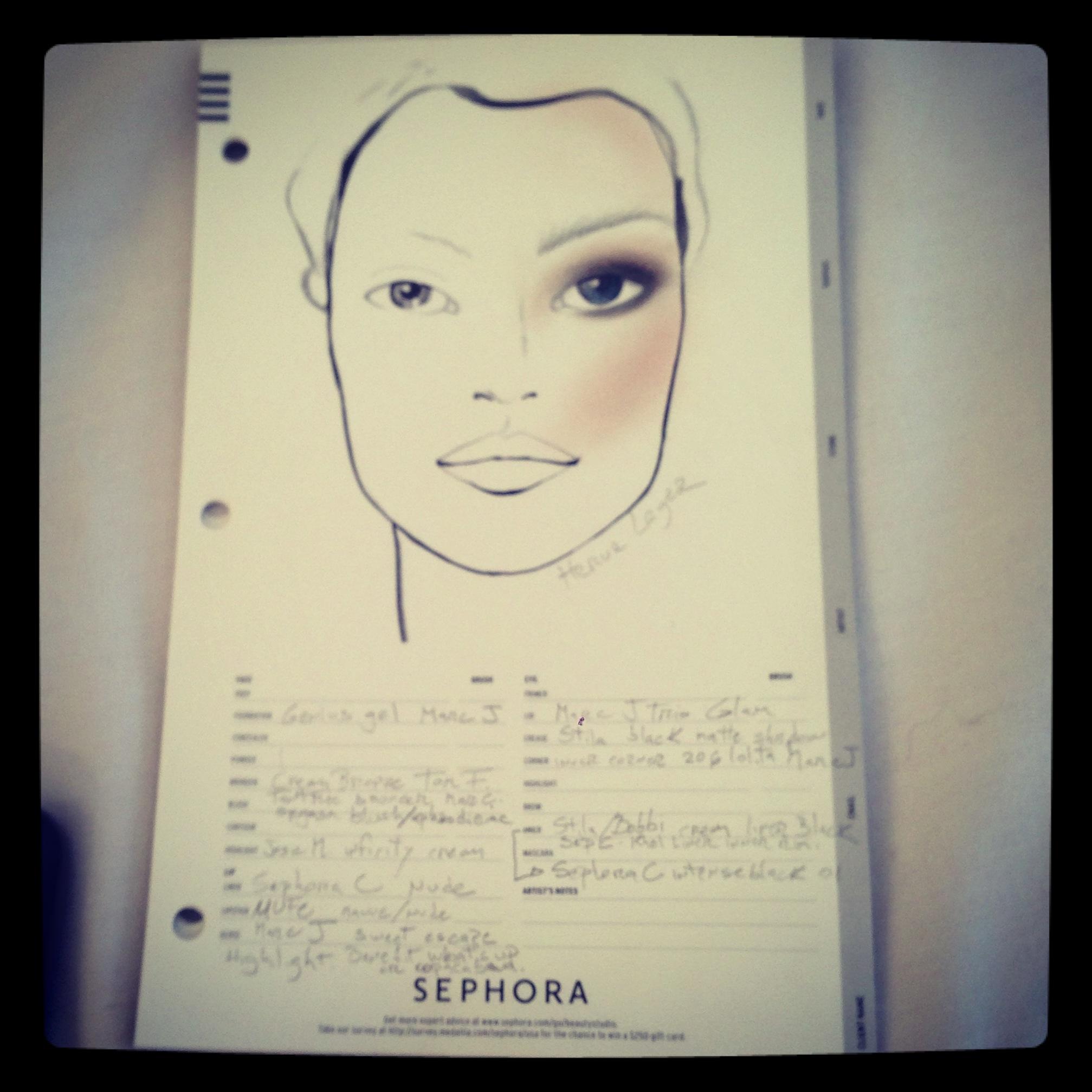 Sephora's Herve Leger map