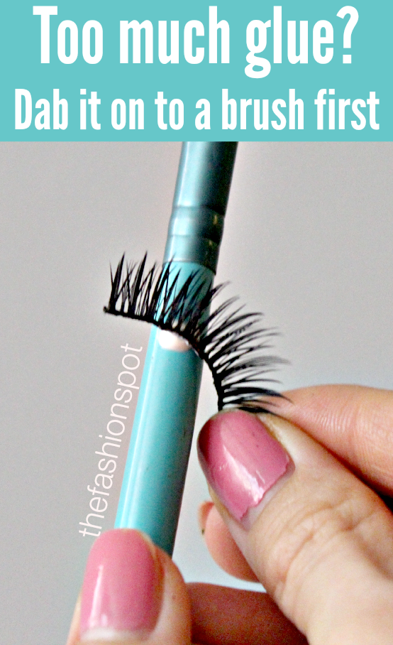 Applying too much lash glue?