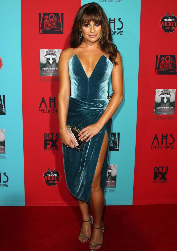 Lea Michele at the Los Angeles Premiere of American Horror Story: Freak Show