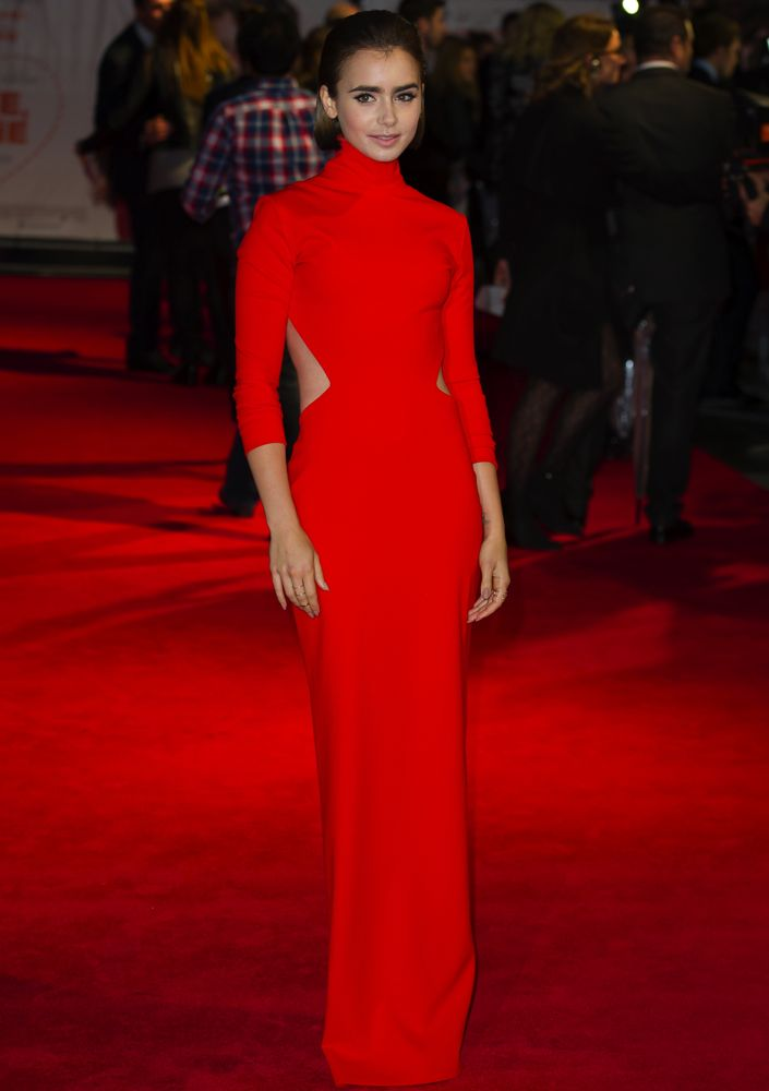 Lily Collins at the London Premiere of Love, Rosie