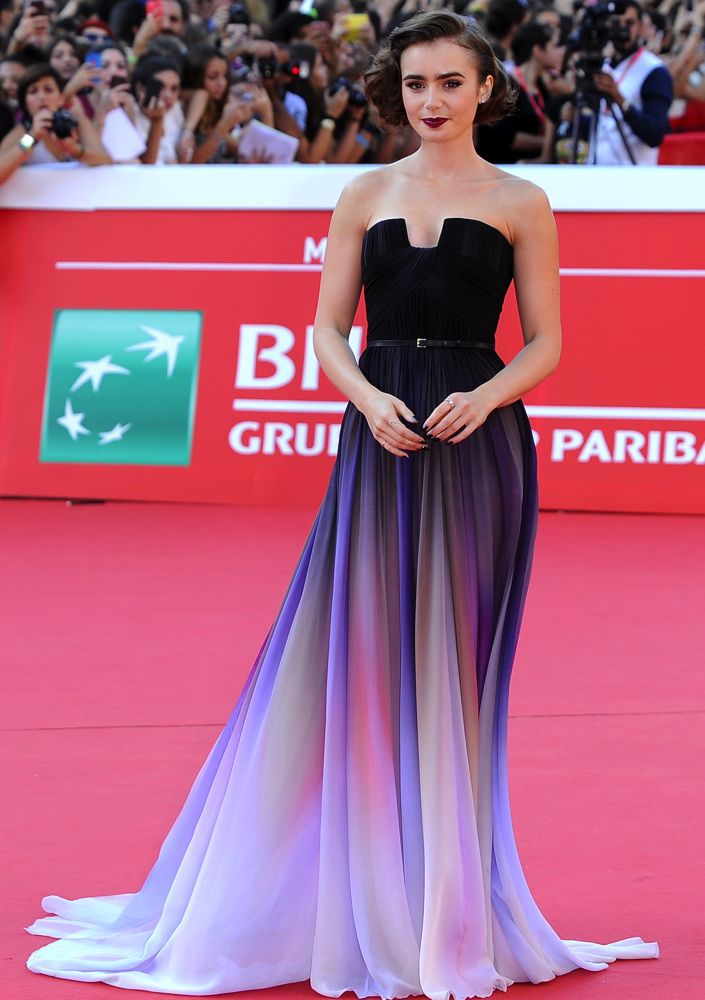 Lily Collins at the 9th Rome Film Festival Premiere of Love, Rosie