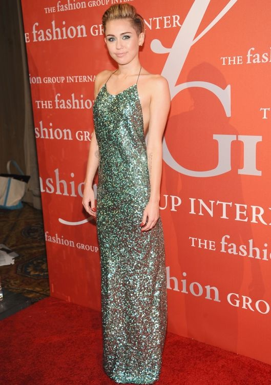 Miley Cyrus at The Fashion Group International's 30th Annual Night of Stars