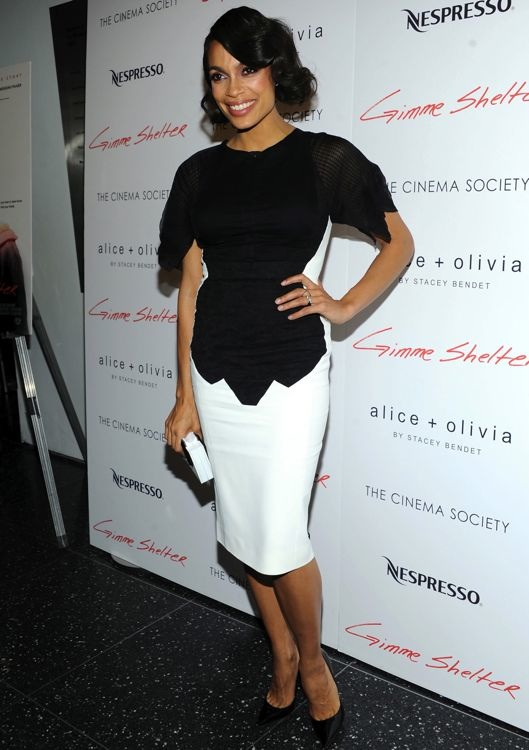 Rosario Dawson at the New York Premiere of Gimme Shelter