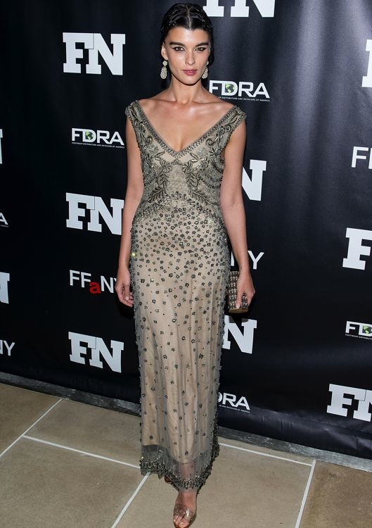 Crystal Renn at the 27th Annual Footwear News Achievement Awards
