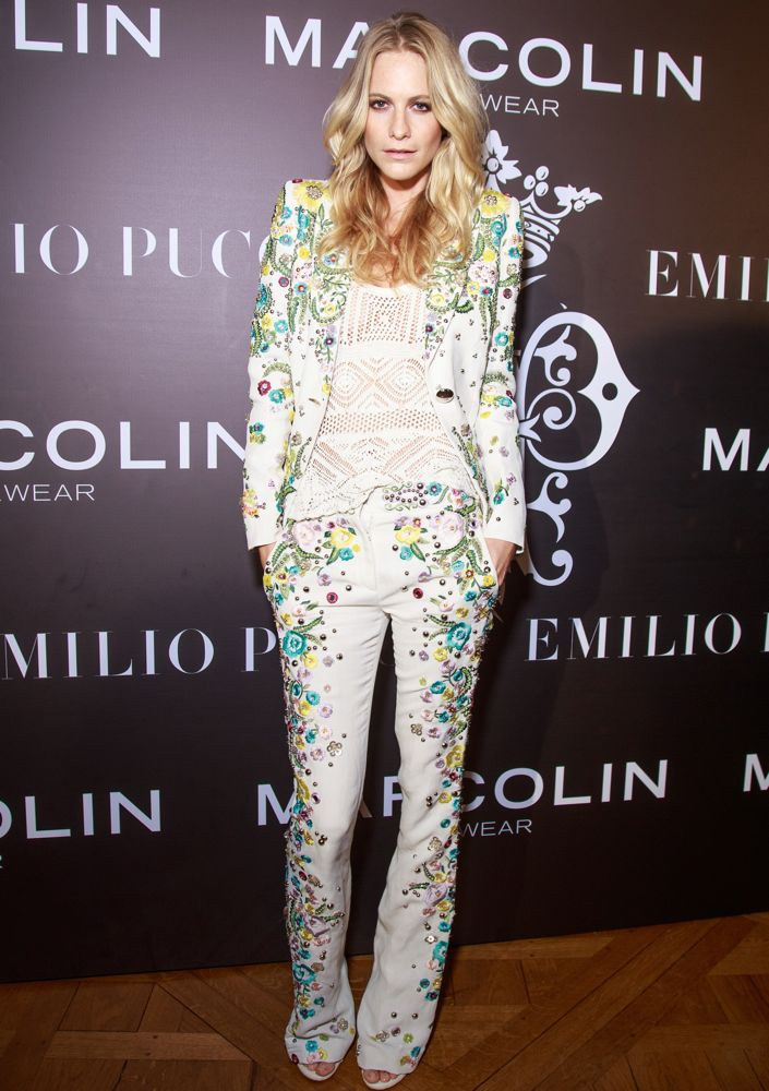 Poppy Delevingne at the Emilio Pucci Eyewear Launch Cocktail and Dinner