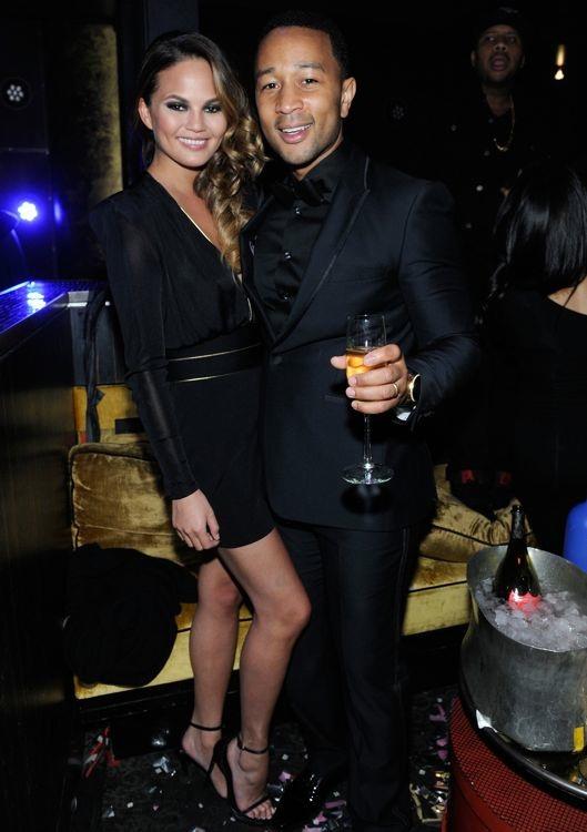 Chrissy Teigen at Haze Nightclub's New Year's Eve Celebration