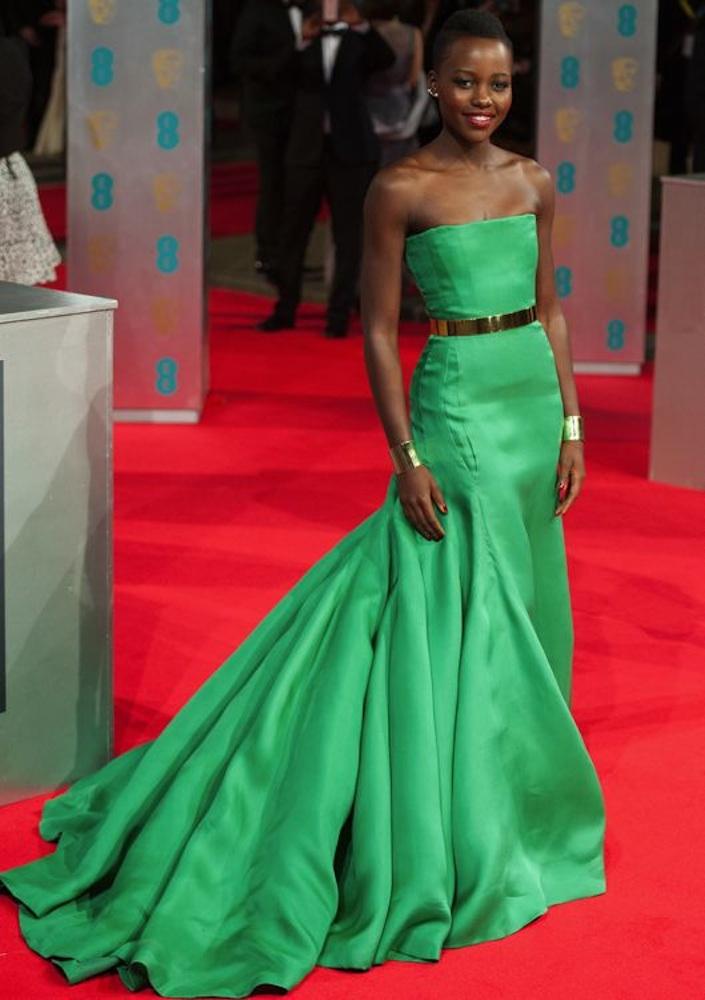 Lupita Nyong'o at the 2014 BAFTA Awards