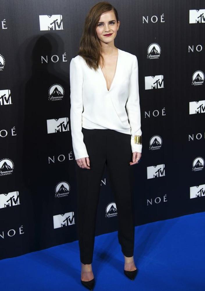 Emma Watson at the Madrid Premiere of Noah