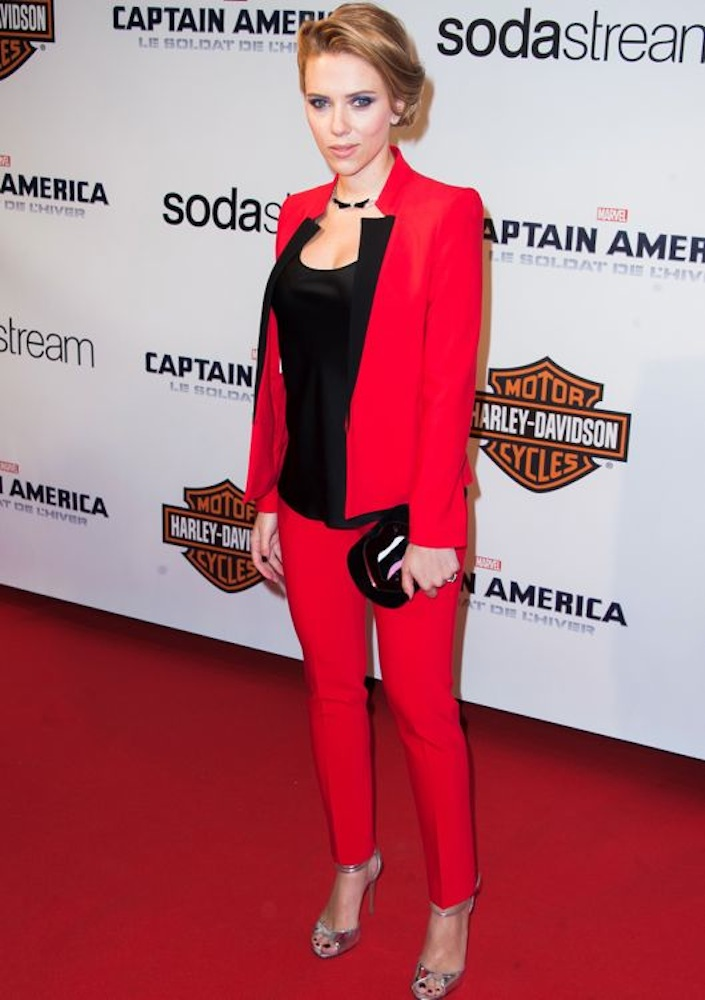 Scarlett Johansson at the Paris Premiere of Captain America: The Winter Soldier