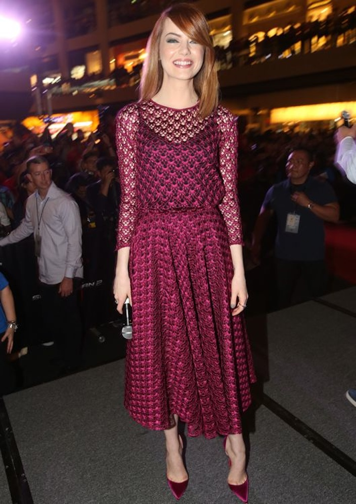 Emma Stone at The Amazing Spider-Man 2: Rise of Electro Singapore Fan Event