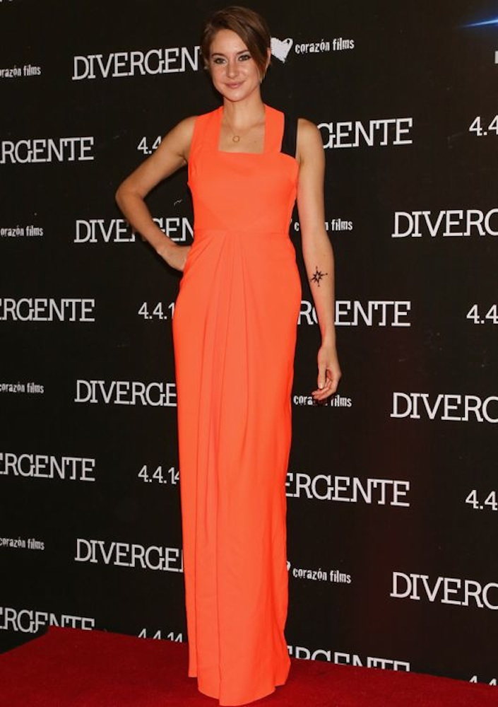 Shailene Woodley at the Mexico City Premiere of Divergent