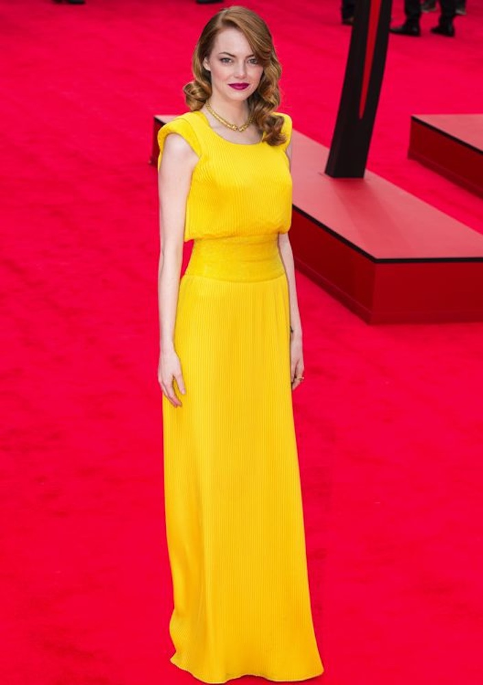 Emma Stone at the London Premiere of The Amazing Spider-Man 2: Rise of Electro