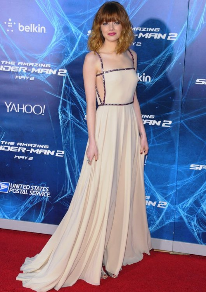 Emma Stone at the New York Premiere of The Amazing Spider-Man 2: Rise of Electro