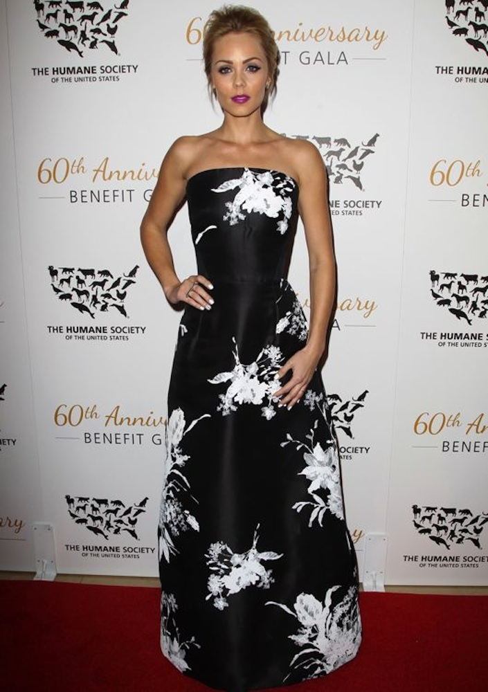 Laura Vandervoort at The Humane Society of the United States 60th Anniversary Benefit Gala