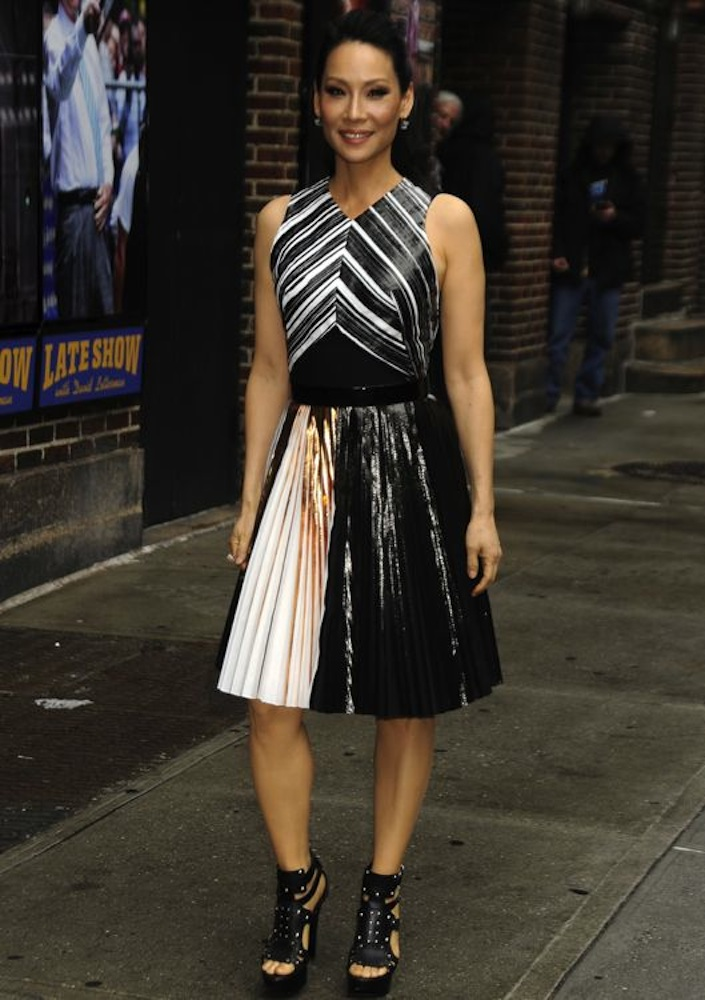 Lucy Liu Appearing on the Late Show with David Letterman