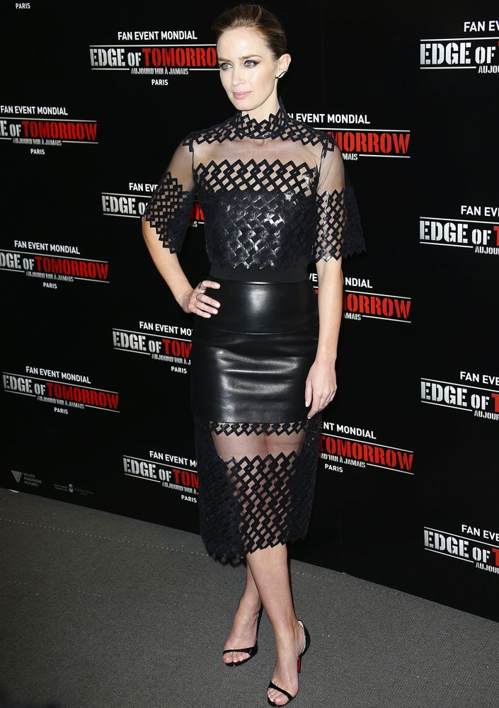 Emily Blunt at the Paris Premiere of Edge of Tomorrow