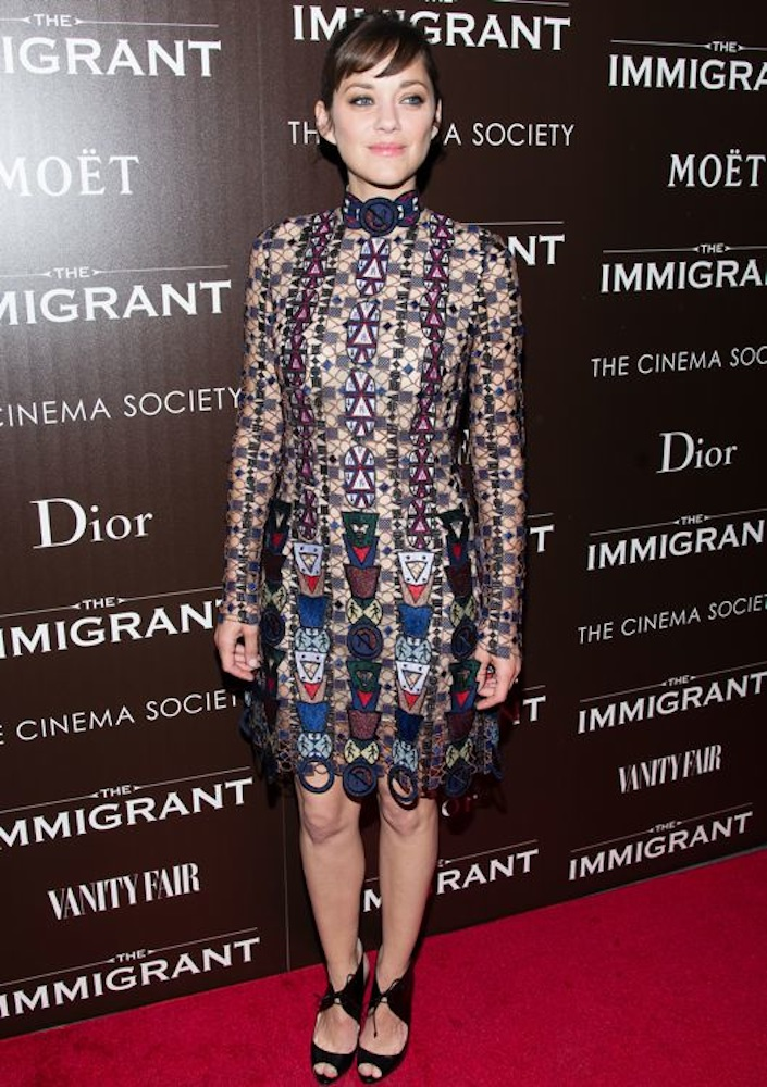Marion Cotillard at the New York Premiere of The Immigrant