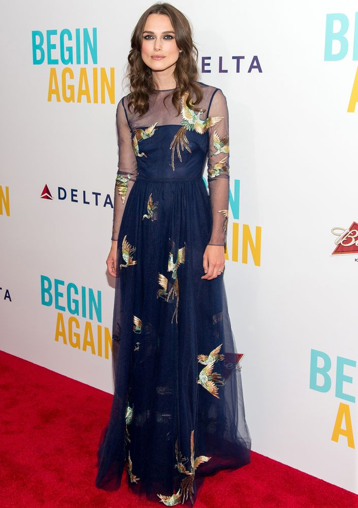Keira Knightley at the New York Premiere of Begin Again